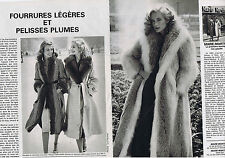 PUBLICITE ADVERTISING 084 1979 MARIE MARTINE fourrures légères (2 pages)