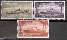FERNANDO POO  Edifil # 207/209 ** barcos / ships