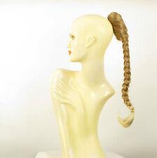 Postiche queue de cheval tresse 50 cm blond clair cuivré blond clair 4 en 27t613