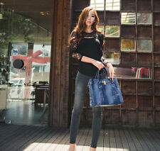 2015 LONG SLEEVE LADY T-SHIRT CASUAL TOPS блузка SEXY WOMEN LACE BLOUSE O-NECK