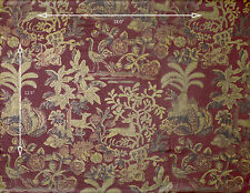 Motif Vintage Wallpaper Paloma Picasso Gold and Burgundy Deer and Leaves