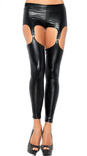 Le donne in PVC Gloss 4 Clip Reggicalze Calze, DUNGEON Fetish Senza Cavallo Wear