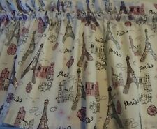 Paris Eiffel Tower Valance with Pink and Silver Glitter Cream Background French