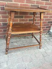 Alt Tisch Salontisch Beistelltisch Konsolentisch Eiche Teetisch mit Ablage  Holz