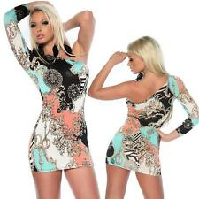 Sexy Women's One shoulder Clubbing Party Bodycon mini Dress One size UK 8/10