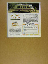1977 fleetwood Pace Arrow RV Motor Home model R photo vintage print Ad