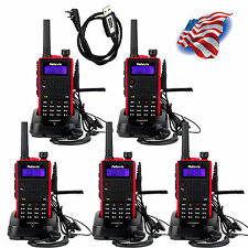 5xRetevis RT5 Walkie Talkie VHF+UHF128CH DTMF 8W TOT Two-Way Radio+USB Cable US