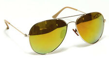 Gold Aviator Sunglasses Men Women Classic Style Vintage Mirror Lens