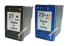 2 Ink Cartridge for HP 21 22 Deskjet F300 F310 Printer