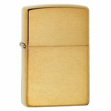 Zippo Brushed Brass Full Size Lighter, ***Flints & Wick***  204B