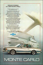 1979-Print Ad for Monte Carlo`Chevrolet`Silver`Automobile (011615)