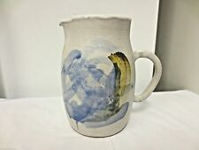 Older Crock Stoneware Handcrafted Pottery Water,Tea,Ice Pitcher-HP multi-color