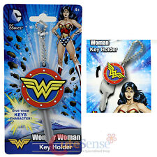 DC Comic  Wonder Woman Logo Key Cap Silicone Rubber Key Holder