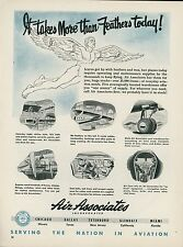1951 Air Associates Ad Airplane Aircraft Parts Supply Repair Service Maintenance