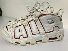 Nike Air~More Uptempo~Basketball Sneakers Pippen Red/White Men Sz 13M Exc. Cond.