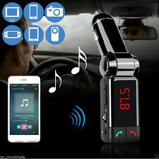 Bluetooth Car Kit MP3 FM Transmitter USB Charger Handsfree with Mic for iPhone