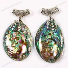 1x Women Mother Of Pearl Abalone Shell Bead Dangle Pendant For Charm Necklace