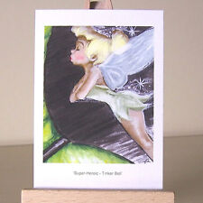 ACEO pixie firefly fairy Tinker Bell WDCC Super Heroic drawing Art Card