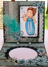 Magnolia Tilda SINGING -ANY OCCASION - handmade EASEL CARD By DEE