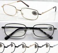 L40 Metal Frame Reading Glasses Spring Hinges +50+75+100+125+150+175+200+250+300