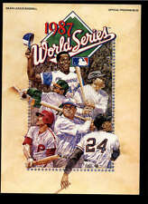 1987 MINNESOTA TWINS VS ST . LOUIS CARDINALS OFFICIAL WORLD SERIES PROGRAM LOT10