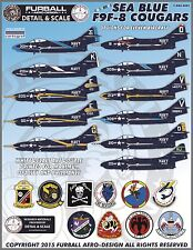 1/48 Furball F9F-8 Colorful Sea Blue Cougars for the Kittyhawk kit