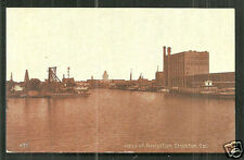 Stockton Head of Navigation Harbour California stamp 1911