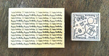 2 HAPPY BIRTHDAY STAMPS WOODEN STAMPS FOR CARD MAKING SCRAPBOOKING