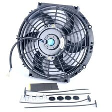 "10"" inch Universal Slim Fan Push Pull Electric Radiator Cooling 12V Mount Kit US"