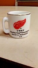 NHL STANLEY CUP CRAZY MINI MUG DETROIT RED WINGS 1997 CHAMPS W/OPPONENT & SCORE