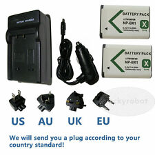 2X battery + charger for SONY NP-BX1 Cyber-shot DSC-HX300,DSC-RX1 DSC-RX100