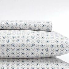 NEW SKY BEDDING KING PILLOWCASES 300 TC CALIXO EASTERN INDIA INDIAN WHITE TEAL