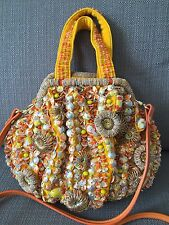 Jamin Puech Paris Purse Yellow Beaded Handmade Small NWOT
