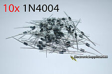 1N4004 Rectifier Diode (10 pcs) 1 Amp 400 Volt, US Fast Shipping