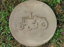Round Tractor  Concrete or Plaster Garden Stepping Stone Mold 1075
