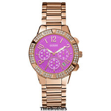 NEW GUESS WATCH for Women * Rose Gold Tone w/Pink Dial * Chronograph * U0141L7