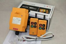 New 2 Transmitters 4 Channels Hoist Crane Radio Remote Control System 220V