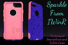 "Otterbox Commuter Series Custom Glitter Case for 4.7"" iPhone 7 Marine Blue/Pink"