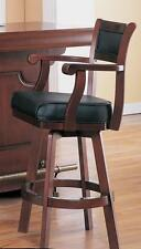 Lambert Traditional Bar Stool with Leather Back and Swivel Seat by Coaster 3079