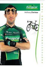 CYCLISME carte cycliste ANTHONY CHARTEAU équipe EUROPCAR 2012