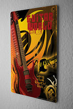 Tin Sign Guitar Rock 'n' Roll Metal Plate