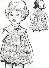 5816 Vintage CHILD'S PINEAPPLE LACE DRESS Pattern to Crochet (reproduction)