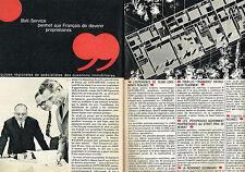 PUBLICITE ADVERTISING 114  1964  BATI-SERVICE  immobilier DOCTEUR WALASSE ( 3p)