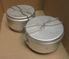 LOT OF TWO (2) Czechoslovakian Mess Kits with Handle - European Military Surplus