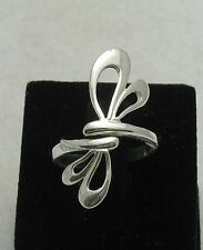 STERLING SILVER RING SOLID 925 DRAGONFLY ADJUSTABLE SIZE R000379 EMPRESS