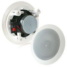 "SINGLE WHITE 4"" CEILING/WALL SPEAKER - 20W 8OHM"