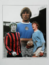 COLIN BELL Signed 16x12 Photo MANCHESTER CITY & ENGLAND Legend COA