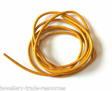 YELLOW 100% NATURAL 2mm LEATHER CORD THONG THREAD NECKLACE & JEWELLERY
