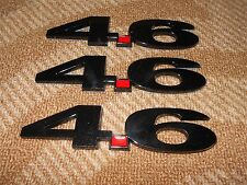 FORD MUSTANG F150 RANGER THUNDERBIRD LINCOLN 4.6L FENDER EMBLEMS 3PC NEW AGE BLK