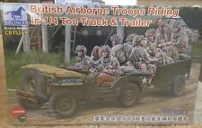 1/35 British Airborne Troops Riding in 1/4 ton truck & trailer  ~  Bronco 35169